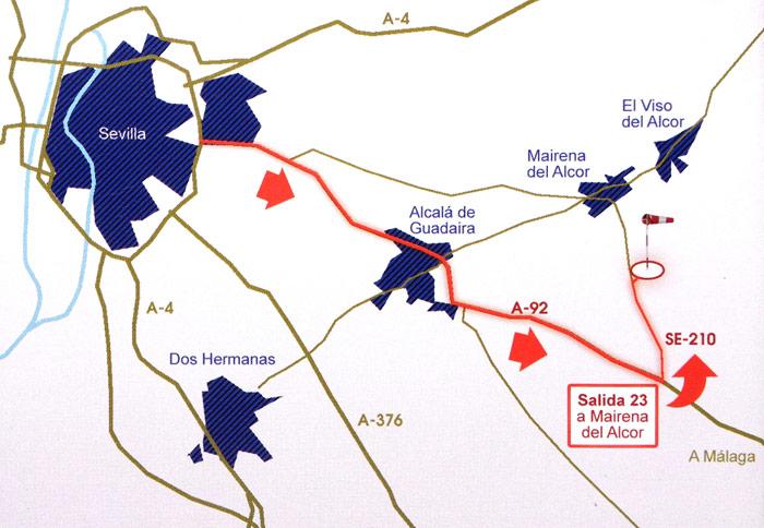 Mapa Aerodromo en Sevilla